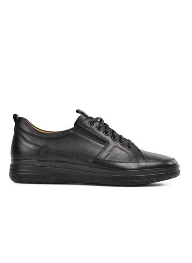 Dr.Flexer 111904 Siyah Comfort Hakiki Deri Erkek Günlük Ayakkabı Siyah